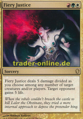 Commander 2013 Magic Fiery Justice Feurige Gerechtigkeit