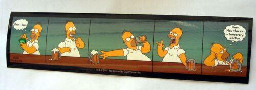 Simpsons Homer Beer temporary solution sticker  Licensed