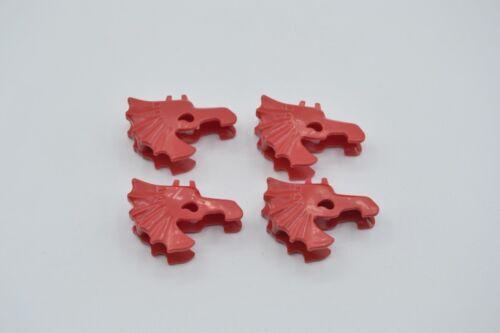 LEGO 4 x Pferdemaske rot red horse battle helmet 6125