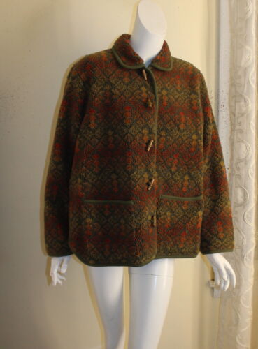 ORVIS -Sz M Lux Deep Pile Fleece Printed Art-to-W… - image 1