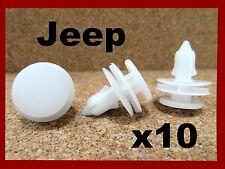 10 JEEP Chrysler door trim panel push type fastener retainer clip 40H