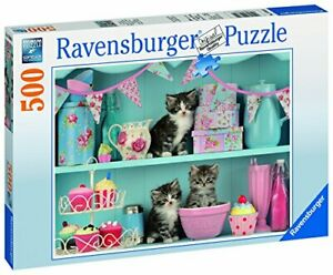 Ravensburger-Jigsaw-Puzzle-KITTENS-and-CUPCAKES-500-Piece