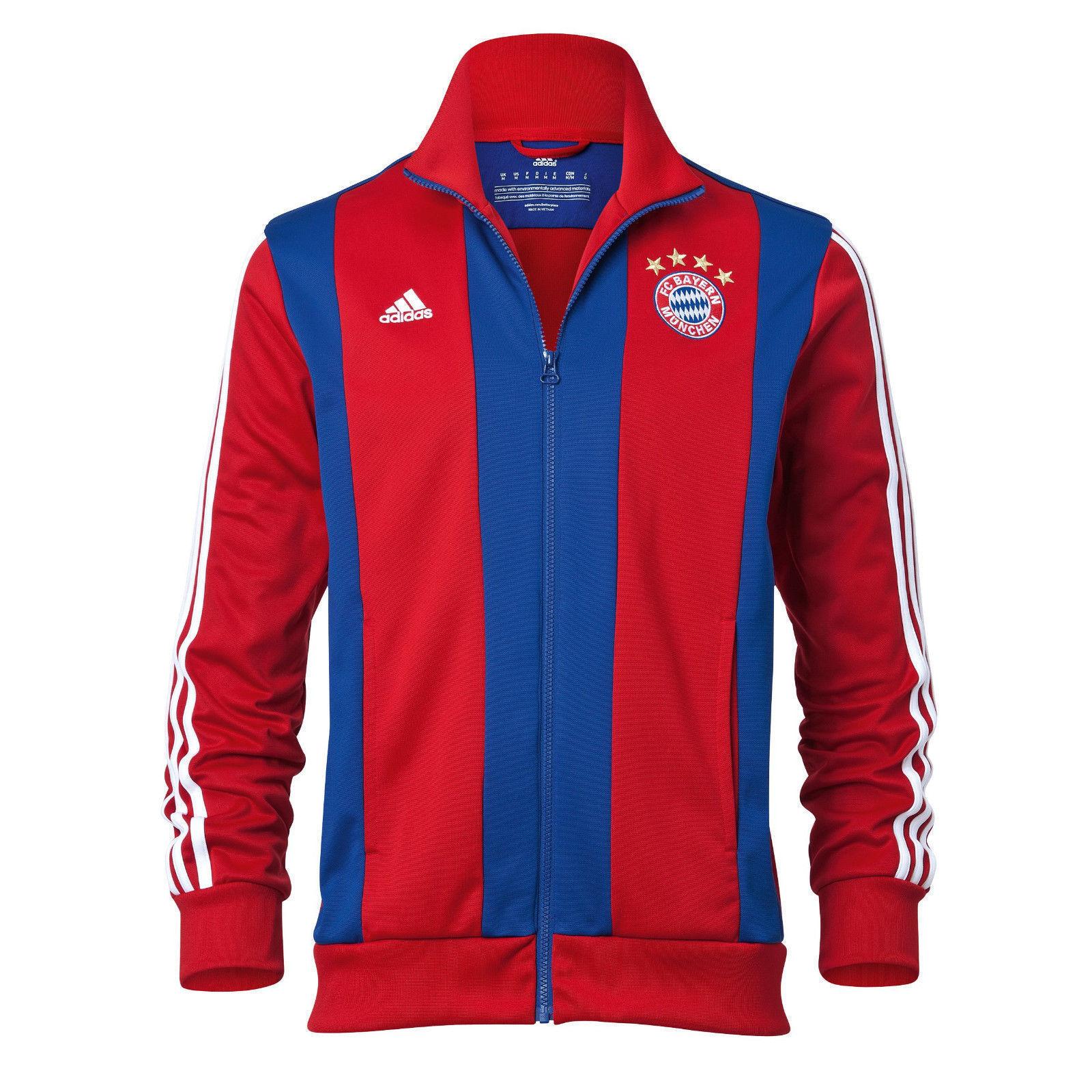 Adidas Bayern Munich Himno Chaqueta Chaqueta de Chándal Rojas   Azul