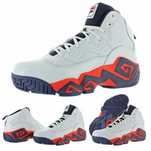 Details about Fila Men's MB Leather Retro High-Top Basketball Trainers  Shoes Sneakers