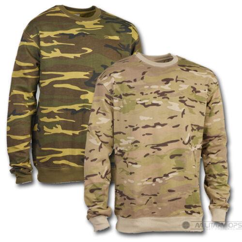 Adulti Mimetico Camouflage Maglione Militare Maglia Caccia Pesca
