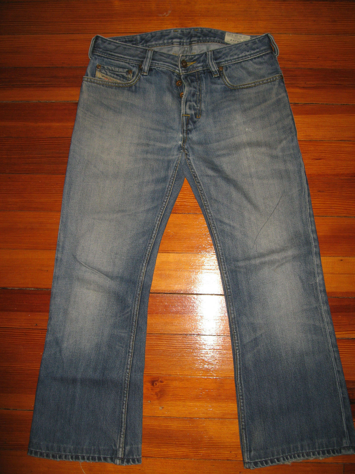 Pre-owned Mens Diesel Zathan bluee Jeans Size 28 x 26.5 Young Adult  Teens