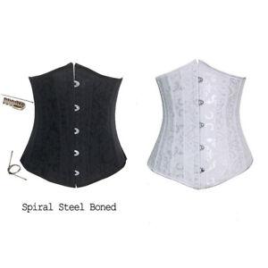 New-Steel-Bone-Underbust-Corset-Waist-Trainer-Cincher-Lace-up-Corset-Body-Shaper