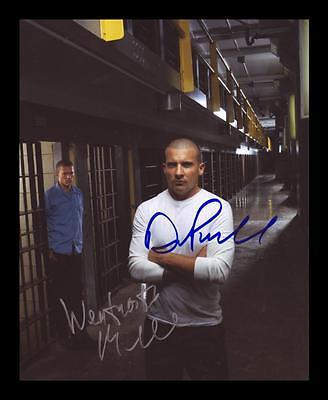 PRISON BREAK MILLER /& PURCELL AUTOGRAPHED SIGNED /& FRAMED PP POSTER PHOTO