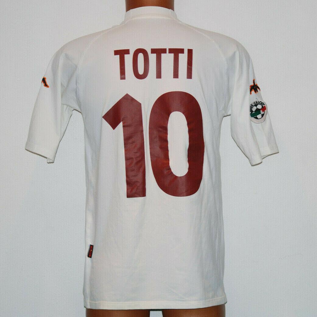 Maglia Totti Roma scudetto 2000 2000 2000 2001 Kappa  10 no match worn Ina Assitalia XL 41b