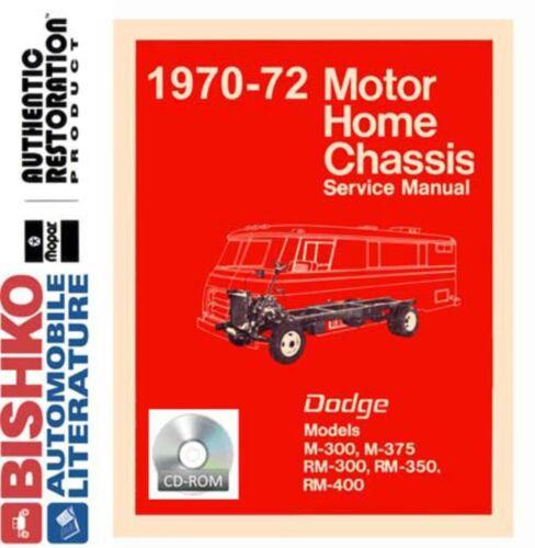 1970 1971 1972 Dodge Class A Motorhome Chassis Shop Service Repair Manual CD OEM