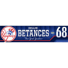 DELLIN BETANCES 10,000th NY YANKEES WIN 10/1/15 GAME USED SAVE LOCKER NAME-PLATE