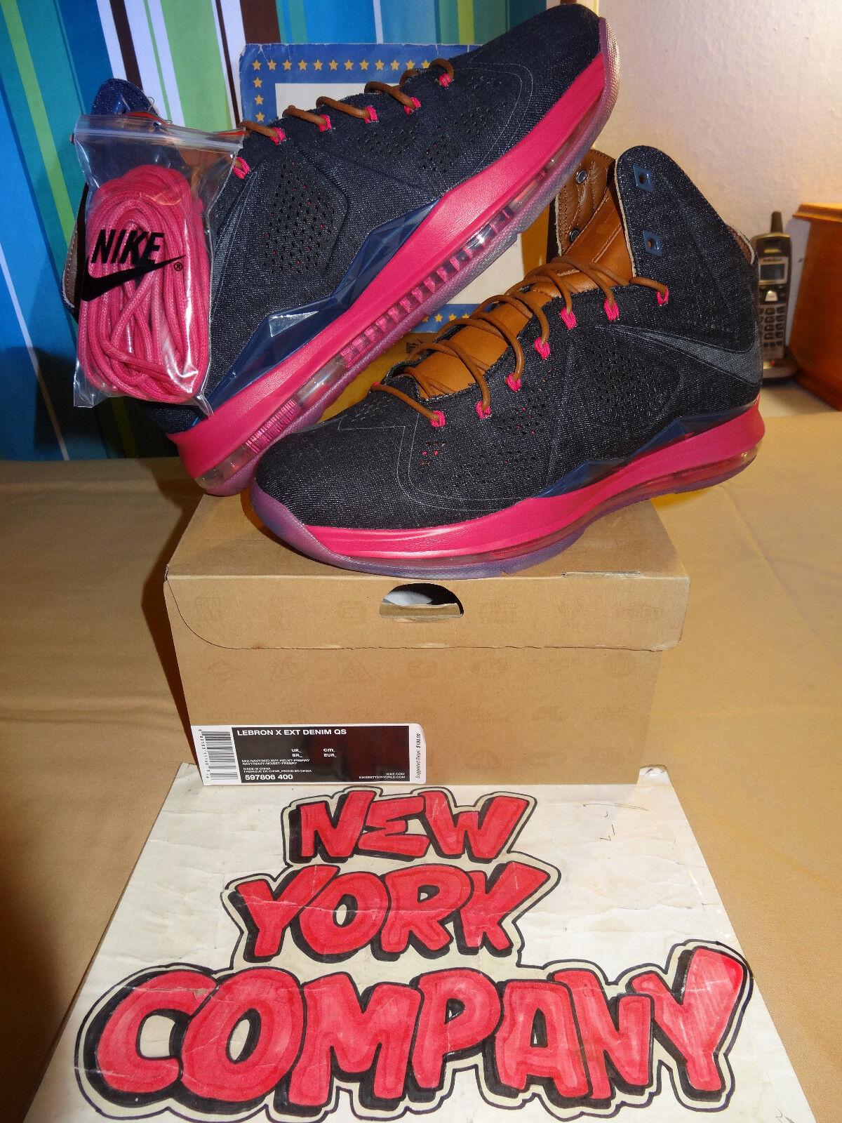 Nike Lebron X EXT Denim QS  Denim  Mid Navy Mid Nvy-Hzlnt-Frbrry 597806 400