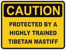 Dog Breed Tibetan Mastiff Caution Sticker Pet for Bumper Car Door