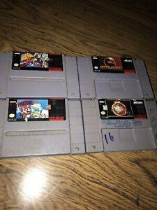 Mortal-Kombat-NBA-JAM-TE-Mario-Paint-NCAA-Basketball-SNES-Cartridges-Lot