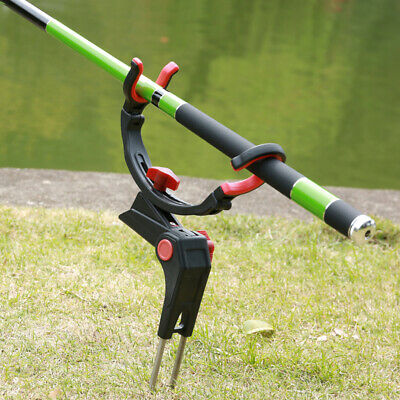 Stainless Steel Rod Stand Rod Holder for Bank Fishing 360 Degree Adjustable