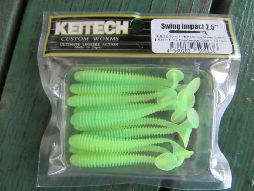"KEITECH Lures Swing Impact 4.5/"" 6pcs Japon forte parfumée Drop Shot Jig Tackle"