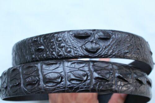 W 1.3/'/' Black Genuine Alligator CROCODILE BELT Skin Leather Men/'s