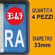 Kit 4 ADESIVI PER TARGA YOSHIMURA plate auto moto Europa custom stickers decals
