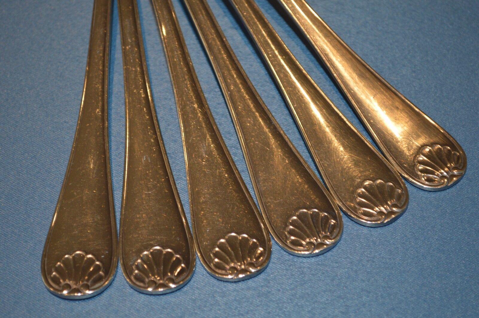 12 COUGrünS DE TABLE METAL SilberE DECOR COQUILLE ORFEVRERIE ORFEVRERIE ORFEVRERIE LIBERTY 19aeb5