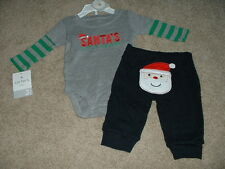 Baby Boys Carters Christmas Holiday 2pc Outfit Set Size 3 Months Clothes NWT NEW