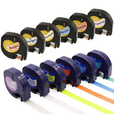 3 x 91203 PLASTIC PAPER 12mm X 4m compatible for DYMO LETRATAG tape label maker
