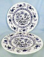 3 Blue Nordic Dessert Plates J & G Meakin English Ironstone Onion Vintage Plate