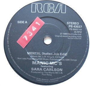 MANIC-MC-039-S-Mental-Excellent-Condition-7-034-Single-PB-43037