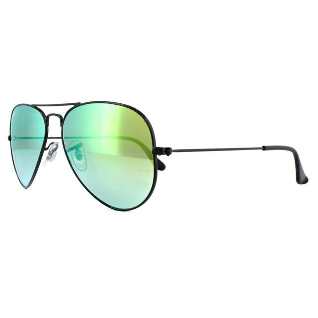 63f422229b Ray-Ban Sunglasses Aviator 3025 002 4J Black Green Gradient Mirror 58mm  Medium