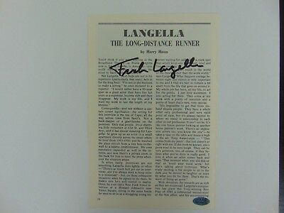 "Autographs-original Theater Nice ""tony Award Winner"" Frank Langella Hand Signed Magazine Article W/ Paas Coa Handsome Appearance"