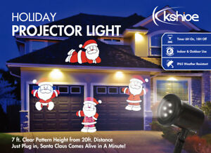 image is loading kshioe christmas projector light moving santa claus led - Christmas Projector Outdoor