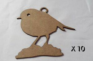 10-Pack-of-Quality-MDF-8cm-Christmas-tree-decorations-CHRISTMAS-ROBIN-2-036