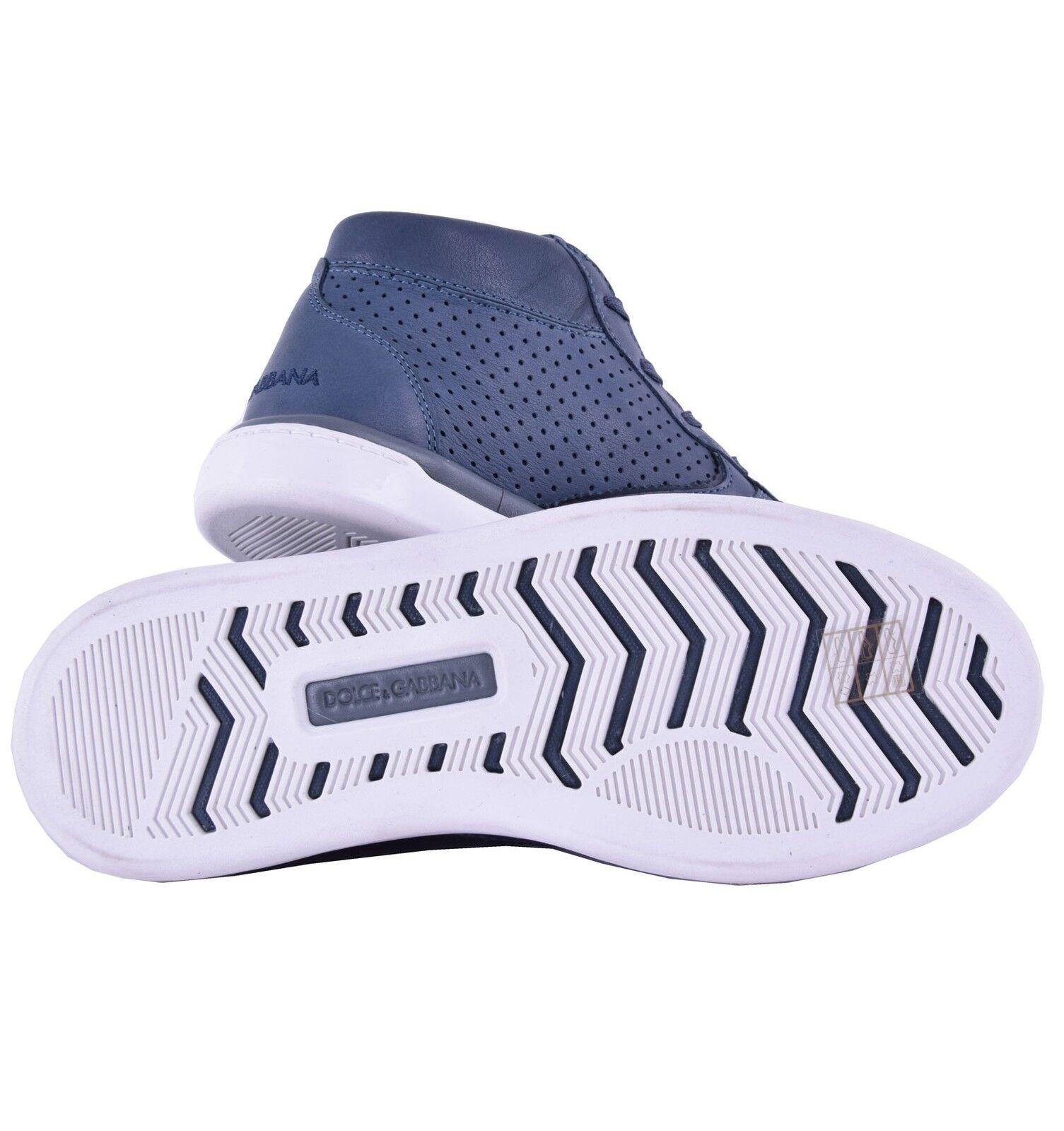 DOLCE & GABBANA Sneaker Perforierte High-Top Sneakers mit Logo Blau Sneaker GABBANA Blau 04634 869eff