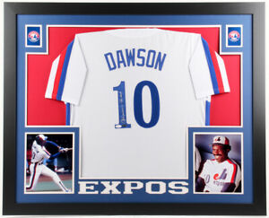 premium selection 5ec9d a289b Details about Andre Dawson Signed Montreal Expos Custom Framed Jersey  Inscribed