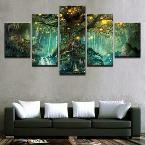 MAGICAL TREE Canvas Art Print for Wall Decor and Painting of Scenic View Landsca