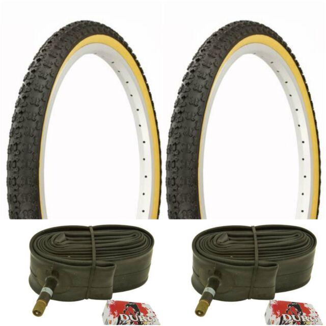 2-20x1.75 BLACK GUM WALL BMX BICYCLE TIRE old school BIKE #258181 COMP 3 TREAD