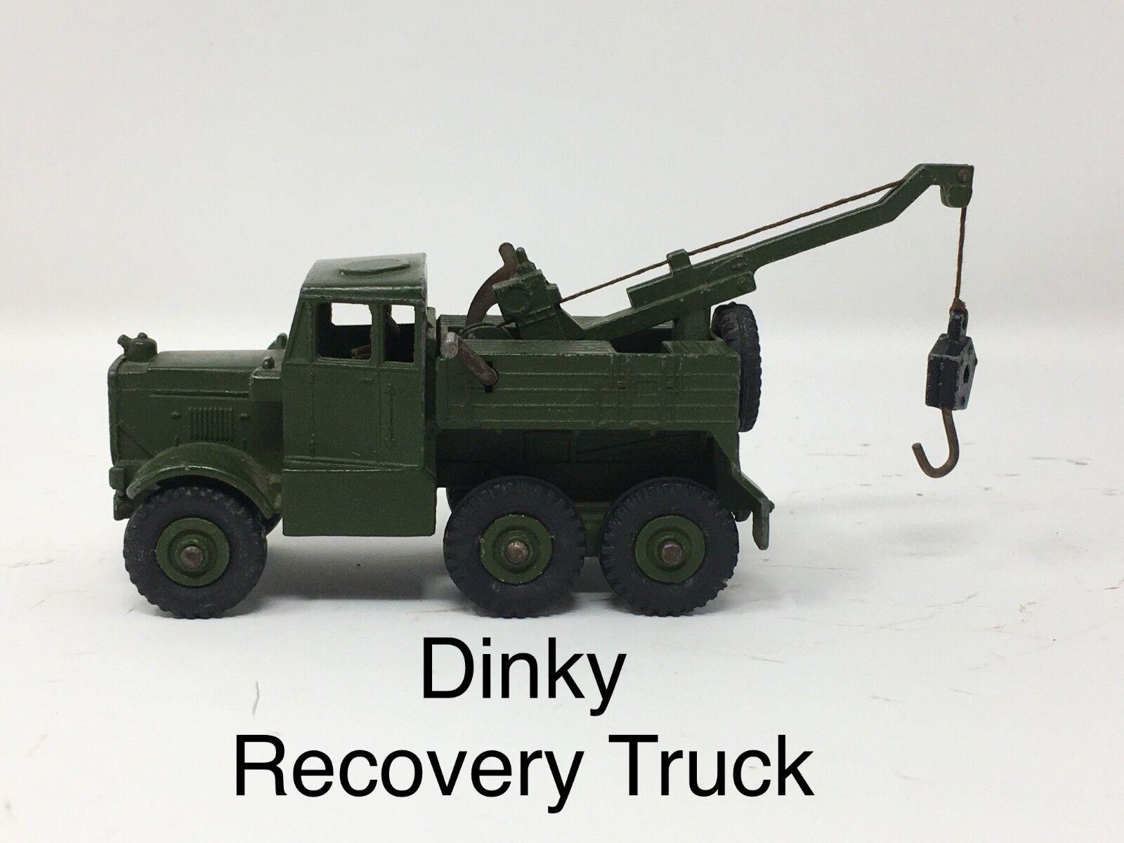 Dinky Recuperación Camión Tractor   verde Militar Nº 661 Made in England Meccano
