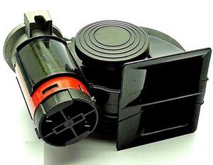 2 klang hupe horn f r auto kfz 12v hupe mit kompressor universal ersatz neu ebay. Black Bedroom Furniture Sets. Home Design Ideas