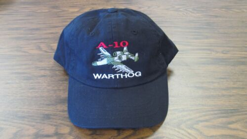 A-10 Warthog aircraft Navy Embroidered Military Hat
