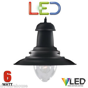 SEARCHLIGHT-LED-FISHERMAN-4301-LED-6-WATT-HANGING-CEILING-PENDANT-BLACK-FINISH
