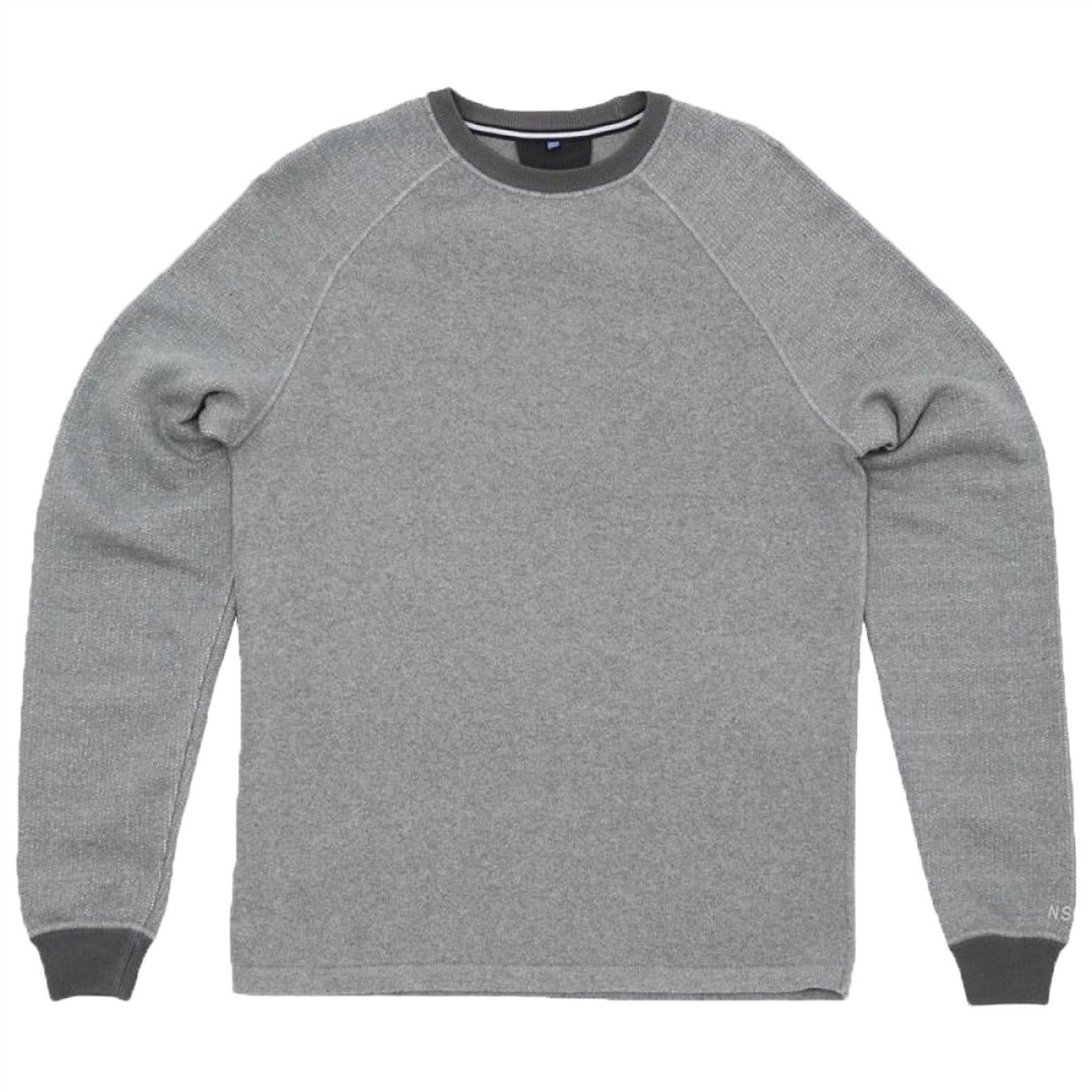 Nike Men's NSW Knit Fleece Mash Up-Crew grau