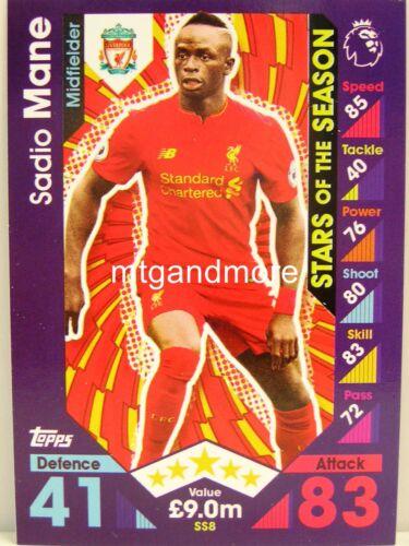 Match Attax 2016//17 Premier League-ss8 Sadio Mane-stars of the Season