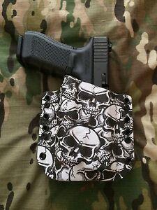 Skull Kydex Light Holster for Glock 17 22 31 Streamlight TLR-1 TLR1 TLR1s
