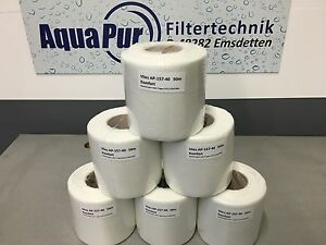 Filterzubehör 6 Rollen Vlies 15,7cm 40g/m² 50m Vliesfilter Rollermat Theiling Neu Ersatzvlies Garten & Terrasse