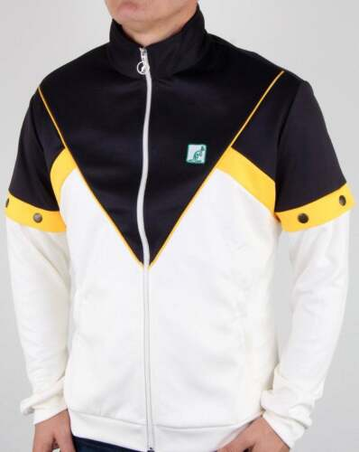 Australian by l/'Alpina Pop Off Sleeve Track Top in White /& Navy tracksuit jacket