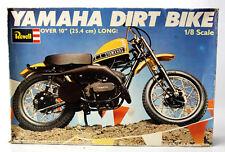 RARE VINTAGE 1977 REVELL YAMAHA DIRT BIKE 1:8 MODEL KIT ENGLAND NEW MIB !