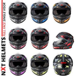 Full-Face-Motorcycle-Motorbike-Helmet-On-Road-Crash-Visor-Scooter-Crash-Helmet