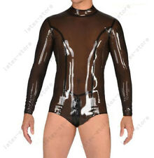 077 Latex Rubber Gummi long sleeves Swimsuit Leotard gym customized catsuit .4mm