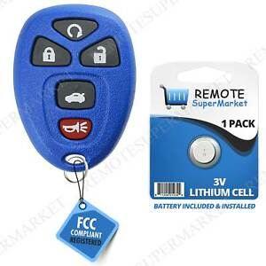 Details About Replacement For 2006 2013 Chevy Impala 06 07 Monte Carlo Remote Key Fob 5b Navy