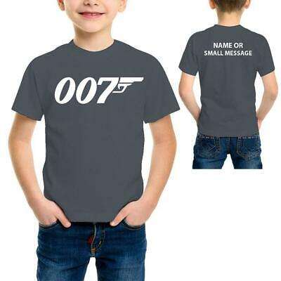 Kids Baby Toddler James Bond 007 T-Shirt 1-2 Ans