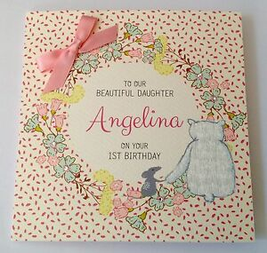 Image Is Loading Personalised Watercolour 1st Birthday Card Daughter Granddaughter 2nd